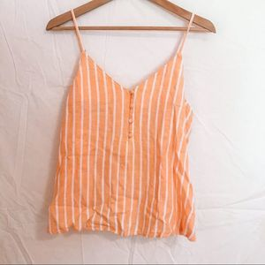 Gold and White Striped Tank